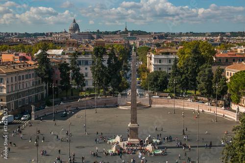 Veduta panoramica di Roma dalla terrazza del Pincio\