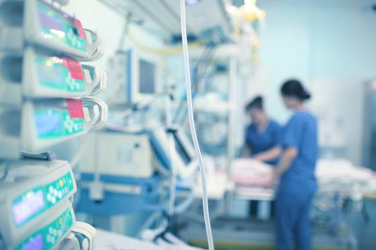 Working nurses in the CCU
