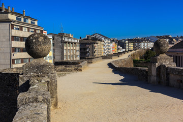 Footpath of the Roman wall of Lugo
