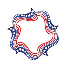 USA star flag logo stripes design elements vector icon