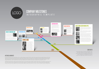 3D Style Timeline Infographic Layout