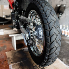 Rear wheel of motorcycle