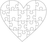 collection of jigsaw puzzle templates stock image and royalty free