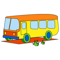Yellow bus for children
