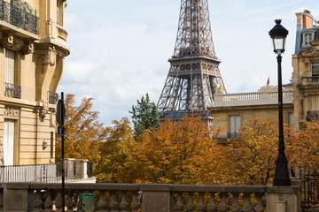 Wall Mural - Eiffel Tower at Avenue de Camoens, Paris