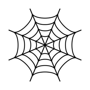 Spider web black silhouette icon