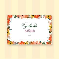 wedding invitation card ,save the date ,vectordesgin