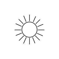 bright sun linear icon