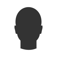 Human's head glyph icon