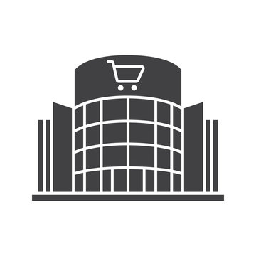 Shopping center glyph icon