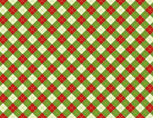 Christmas Holiday Argyle Background Pattern Illustration