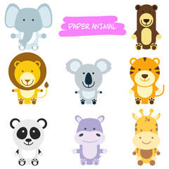 Wild Animals Cartoon Illustration