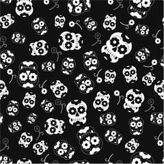 halloween skull pattern