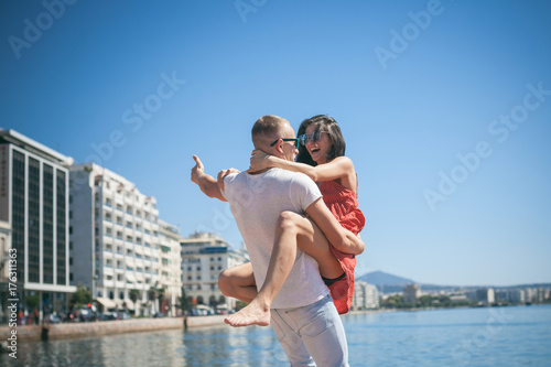 Passionate Couple Kissing Boy And Girl Having Sex Young Lovers People In