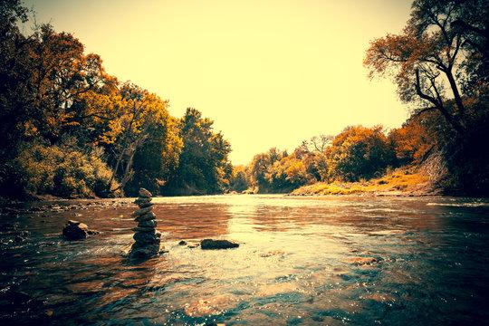 River Rock Stack