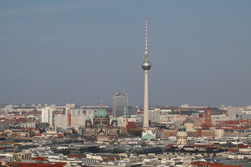 berlin view tv tower and berliner dom