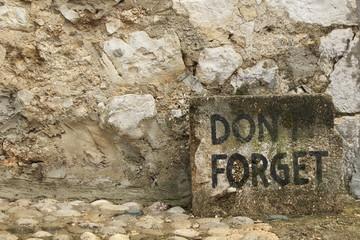 After war graffiti on a wall in Mostar, Bosnia