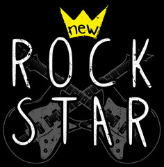 Rock graphic design with guitar