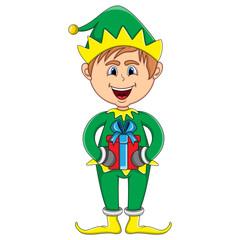 Christmas elf cartoon