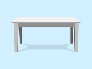 White Table Platform Stand. Template for Object Presentation.Vector Illustration EPS