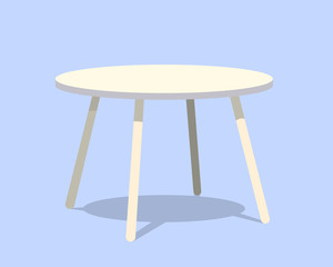 Round table for modern living room reception or lounge single object realistic design vector illustration eps10