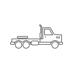 Truck without trailer simple icon outline silhouette on white background.