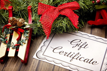 Advertisement for Gift Certificates