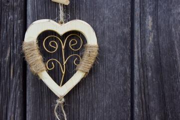 Fototapeta Drewniane serce obraz