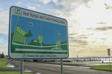 Boat Ramps and Trailer Parking Zones sign