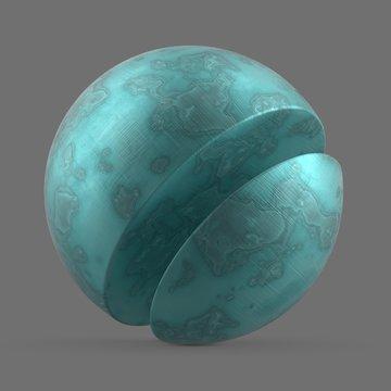 Cloudy blue acetate