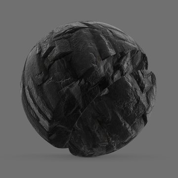 Black rocky cliff