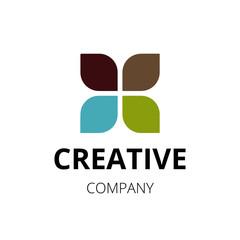 Creative clover leaf logo. Vector illustration