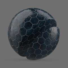 Navy blue honeycomb tile