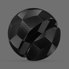 Metallic plastic hexagon cube