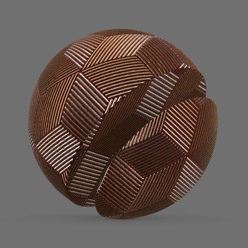 Golden plastic hexagon cube