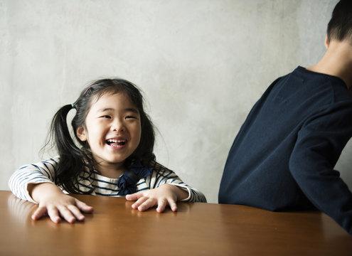 Cheerful japanese girl