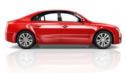 Illustration of a red car