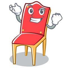 Successful chair character cartoon vector illustration