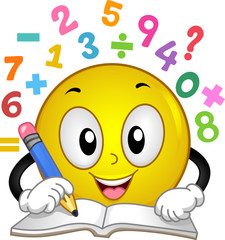 Smiley Math Number Solve Illustration