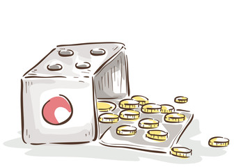 Lucky Money Coins Illustration