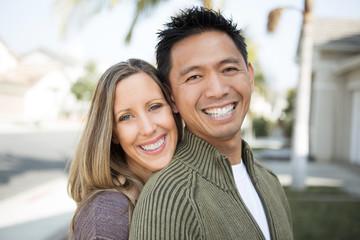 Mixed race couple.
