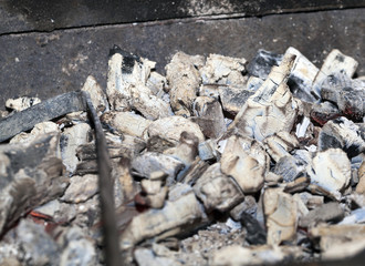 coals in the grill