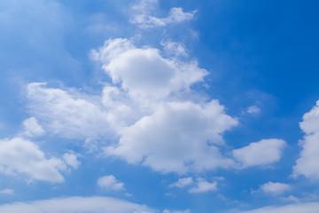 Blue sky and white sky