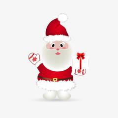 Funny Santa on white background