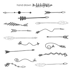 Doodle hand drawn arrows.