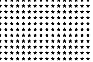 abstract seamless pattern black star on white background design for fabric and decor