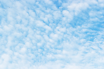 Soft white clouds against blue sky background, beautiful of nature
