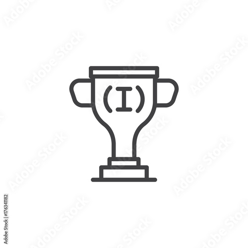 Astounding Trophy Line Icon Outline Vector Sign Linear Style Gmtry Best Dining Table And Chair Ideas Images Gmtryco
