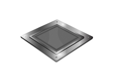 Processor unit concept isolated on white background