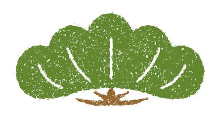お正月 年賀状 スタンプ風 イラスト素材 松の木